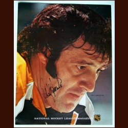 Phil Esposito Boston Bruins Autographed National Hockey League Magazine Cover