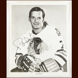 Pit Martin Chicago Black Hawks Autographed 8x10 B&W Photo – Deceased