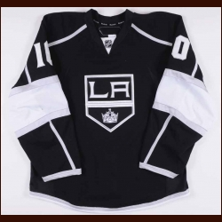 2010-11 Marco Sturm Los Angeles Kings Game Worn Jersey – Alternate - Photo Match – Team Letter