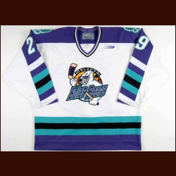 1998-99 David Bell Orlando Solar Bears Team Issued Jersey - Team Letter