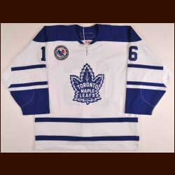 "2005-06 Darcy Tucker Toronto Maple Leafs Game Worn Jersey - ""2005 Hockey Hall Of Fame"" - Photo Match - NHL Letter"