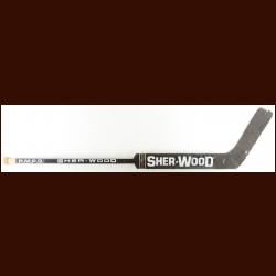 Pelle Lindbergh Philadelphia Flyers Black Sher-Wood Game Used Stick – The Terrence Murphy Collection – Joe Murphy Letter