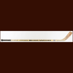 John Leclair Philadelphia Flyers Sher-Wood Game Used Stick – Autographed