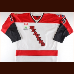 2000's Blind River Beavers Game Worn Jersey – Player #14 NOJHL