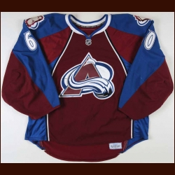 2007-08 Jose Theodore Colorado Avalanche  Game Worn Jersey - Team Letter