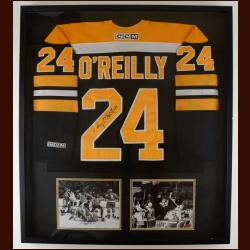 Terry O'Reilly Boston Bruins Autographed Matted & Framed Display – COA