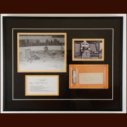 Frank Brimsek Boston Bruins Autographed Matted & Framed Display – Deceased