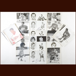 Detroit Red Wings Autographed Group of (77) – Includes Hall of Famers and Deceased
