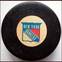 New York Rangers Old Style Logo Puck
