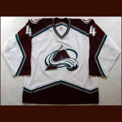 2006-07 John-Michael Liles Avalanche Game Worn Jersey - Team Letter