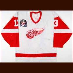 "1994-95 Vyacheslav Kozlov Detroit Red Wings Stanley Cup Finals Game Worn Jersey – ""1995 Stanley Cup Finals"" - Video Match"