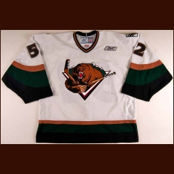 2008-09 Nathan Lawson Utah Grizzlies Game Worn Jersey - ECHL Letter