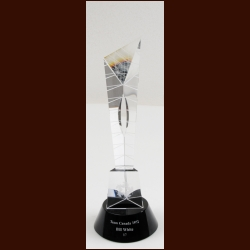 Bill White 2012 Canada's Walk of Fame Crystal Trophy – The Bill White Collection – Bill White Letter