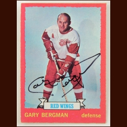 1973-74 Topps Gary Bergman Detroit Red Wings Autographed Card – Deceased
