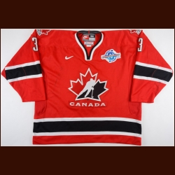 2004 Jay Bouwmeester Team Canada World Cup of Hockey Game Worn Jersey – NHLPA Letter