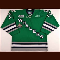 "2006-07 A.J. Jenks Plymouth Whalers Game Worn Jersey - Alternate - ""2007 Memorial Cup"""