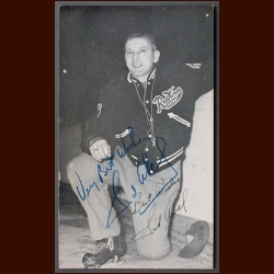 Sid Abel Autographed Postcard - Deceased