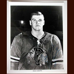 Gilles Marotte Chicago Black Hawks Autographed 8x10 B&W Photo - Deceased