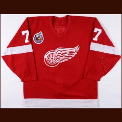 1992-93 Paul Coffey Detroit Red Wings Game Worn Jersey - Photo Match