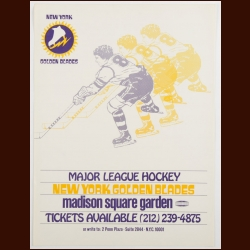 1973-74 WHA New York Golden Blades Advertising Poster