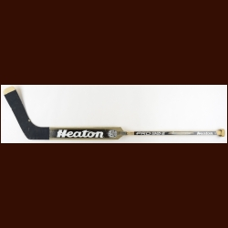 Tom Barrasso Pittsburgh Penguins Black Heaton Game Used Stick