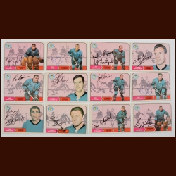Lot of (12) 1968-69 OPC Pittsburgh Penguins Autographed Cards – Includes Hall of Famer