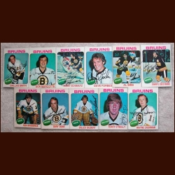 1975-76 Autographed Boston Bruins Card Group of 11
