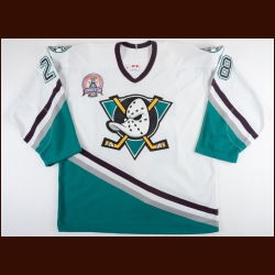 "2002-03 Niclas Havelid Anaheim Mighty Ducks Stanley Cup Finals Game Worn Jersey – ""2003 Stanley Cup Finals"" - Photo Match – Team Letter"