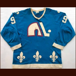 1975-76 Real Cloutier WHA Quebec Nordiques Game Worn Jersey - 60-goal Season
