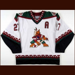 1996-97 Teppo Numminen Phoenix Coyotes Game Worn Jersey - Inaugural Season - Photo Match - Team Letter