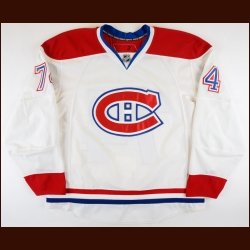 2007-08 Sergei Kostitsyn Montreal Canadiens Game Worn Jersey – Rookie – Photo Match – Team Letter