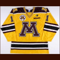 "1996-97 Dave Spehar University of Minnesota Golden Gophers Game Worn Jersey - ""Golden Gophers 75-year Annivesary"" - Mr. Minnesota 1996"