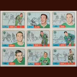 Lot of (7) 1968-69 OPC California Seals Autographed Cards – Includes Deceased