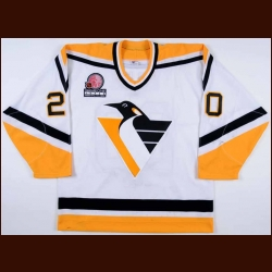 "2000-01 Robert Lang Pittsburgh Penguins Game Worn Jersey - ""Japan Game One 2000 NHL"""