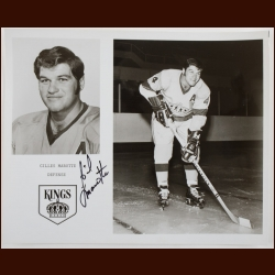 Gilles Marotte Los Angeles Kings 8x10 B&W Autographed Photo – Deceased
