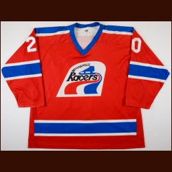 1998-99 Frank Bialowas Indianapolis Racers Game Worn Jersey - WHA Throwback - Final IHL Game in Indy