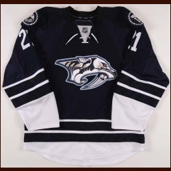 2010-11 Jamie Lundmark Nashville Predators Game Issued Jersey