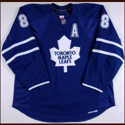 2009-10 Mike Komisarek Toronto Maple Leafs Game Worn Jersey – Team Letter