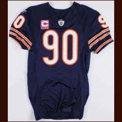 2011 Julius Peppers Chicago Bears Game Worn Jersey - Worn 10/16/2011 - 2 Sack Game - Photo Match - Team Letter
