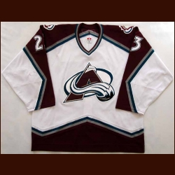 2006-07 Milan Hejduk Avalanche Game Worn Jersey - Photo Match - Team Letter