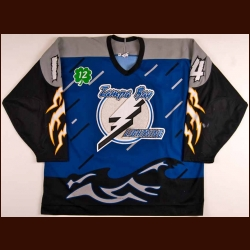 "1997-98 Karl Dykhuis Tampa Bay Lightning Game Worn Jersey - ""Cullen"""