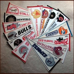USFL Pennant group of 13