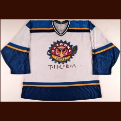 2005-06 Sprague Tulsa Bazooka Blues Game Worn Jersey