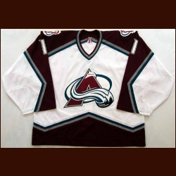 2001-02 David Aebischer Avalanche Game Worn Jersey