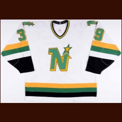 1988-89 Mike Modano Minnesota North Stars Game Worn Jersey – Rookie - 1st NHL Game - Photo Match - Video Match