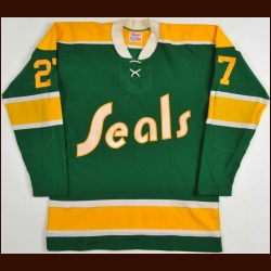 Early 1970's Gilles Meloche California Golden Seals Salesman's Sample Jersey