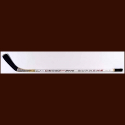 Trevor Linden Vancouver Canucks White Bauer Game Used Stick - Autographed