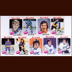 1975-76 Autographed St. Louis Blues Card Group of 9