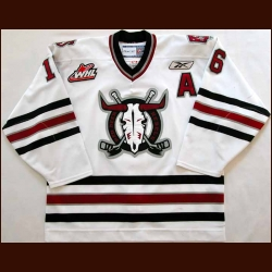 2008-09 Brennen Wray Red Deer Rebels Game Worn Jersey - Team Letter