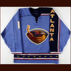 2006-07 Ilya Kovalchuk Atlanta Thrashers Game Worn Jersey - Photo Match - Team Letter